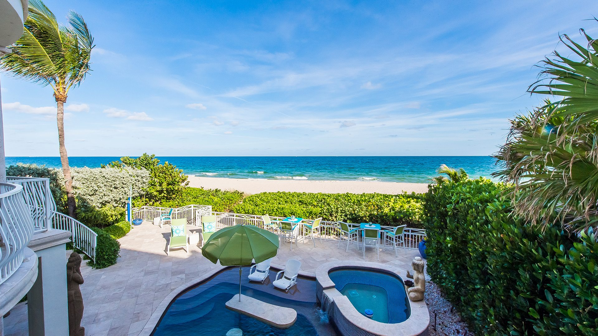 Beach View from Luxury Oceanfront Home, 2416 North Atlantic Boulevard, Fort Lauderdale, Florida 33305