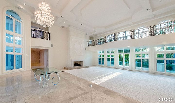 Soaring Living Room Ceiling in Estate Home 709 Idlewyld Drive, Fort Lauderdale, Florida 33301