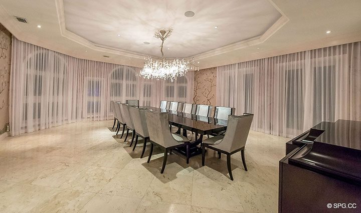 Formal Dining Room in Estate Home 709 Idlewyld Drive, Fort Lauderdale, Florida 33301