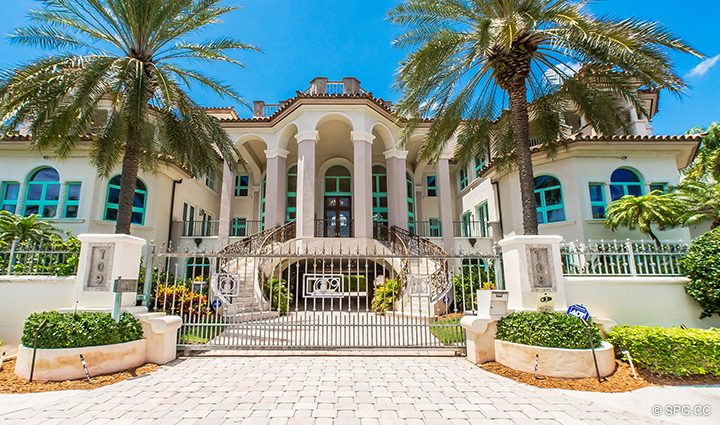 Grand Entry to Estate Home 709 Idlewyld Drive, Fort Lauderdale, Florida 33301