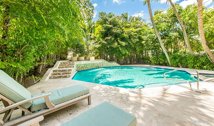 Pool Area at Estate Home 709 Idlewyld Drive, Fort Lauderdale, Florida 33301