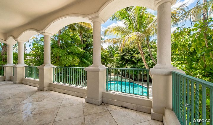 Second Floor Terrace at Estate Home 709 Idlewyld Drive, Fort Lauderdale, Florida 33301