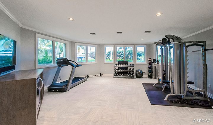Fitness Room inside Estate Home 709 Idlewyld Drive, Fort Lauderdale, Florida 33301
