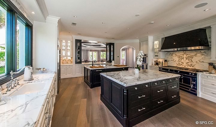 Gourmet Chef's Kitchen in Estate Home 709 Idlewyld Drive, Fort Lauderdale, Florida 33301