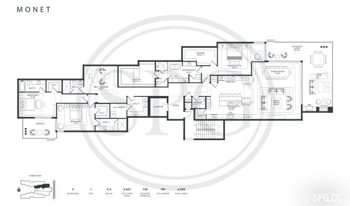 Ocean Delray Monet Floorplan
