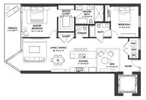 Click to View the Residence B Floorplan