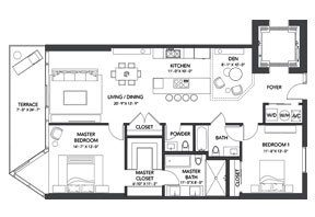 Click to View the Residence B2 Floorplan