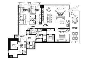 Click to View the Bay Residence NE Floorplan.