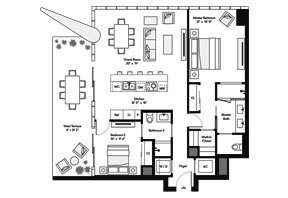 Click to View the Tower Residence NW Floorplan.