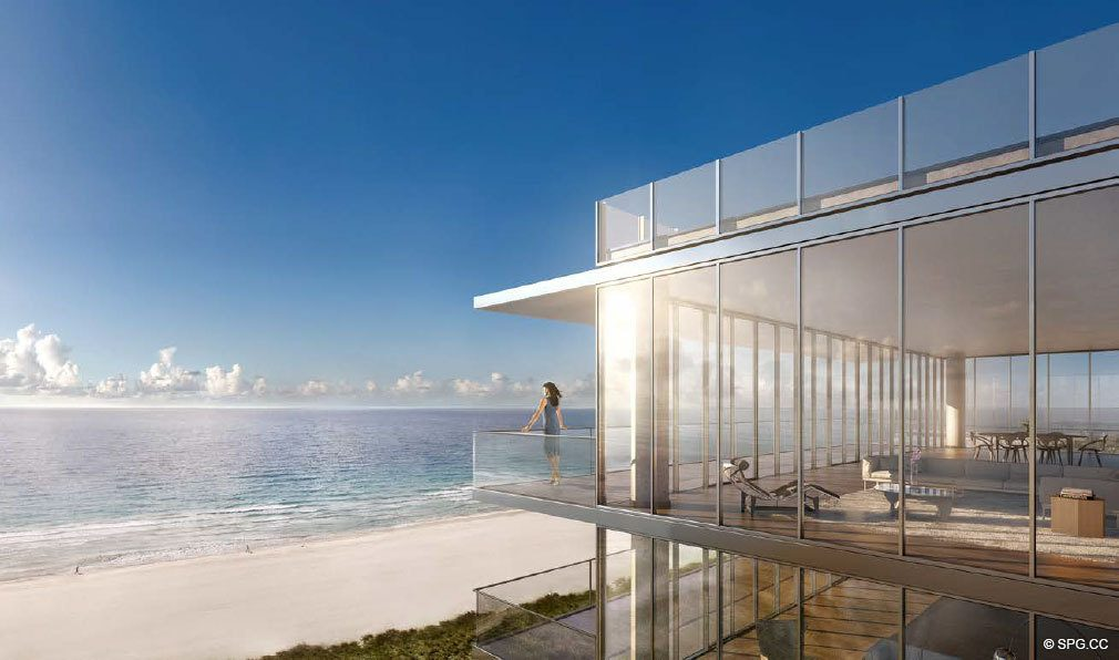 Spacious Balcony at 321 Ocean, Luxury Oceanfront Condominiums Located at 321 Ocean Drive, Miami Beach, FL 33139