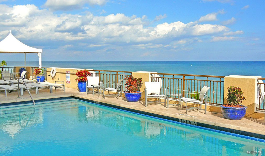 Pool at The Atlantic, Luxury Oceanfront Condominiums Located at 601 North Fort Lauderdale Beach Blvd, FL 33304
