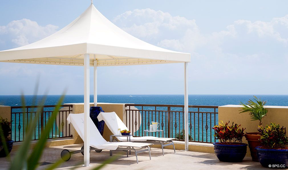 Poolside Cabana at The Atlantic, Luxury Oceanfront Condominiums Located at 601 North Fort Lauderdale Beach Blvd, FL 33304