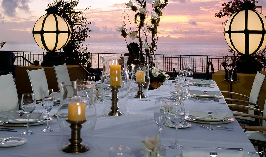 Elegant Dining at The Atlantic, Luxury Oceanfront Condominiums Located at 601 North Fort Lauderdale Beach Blvd, FL 33304