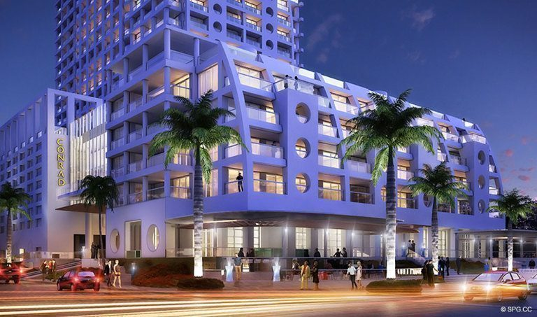 Conrad Hotel and Residences, Luxury Oceanfront Condominiums Located at 551 North Fort Lauderdale Beach Blvd, Fort Lauderdale, FL 33304