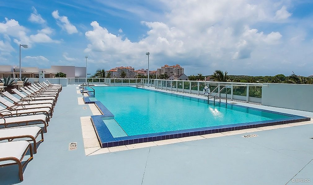 Rooftop Pool at Continuum, Luxury Oceanfront Condos Located at 50-100 South Pointe Dr, Miami Beach, FL 33139