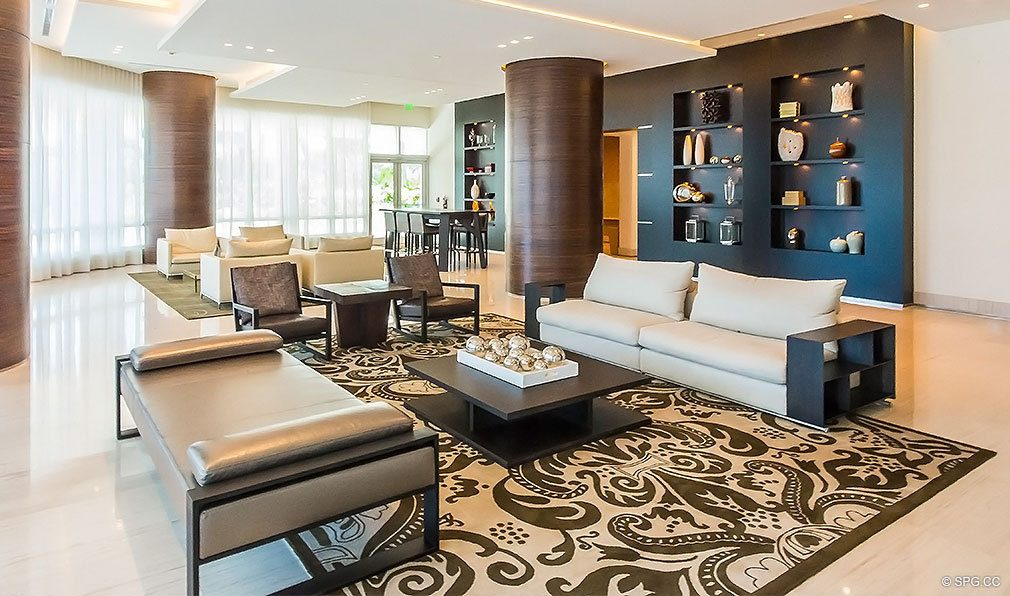 Common Area at Continuum, Luxury Oceanfront Condos Located at 50-100 South Pointe Dr, Miami Beach, FL 33139