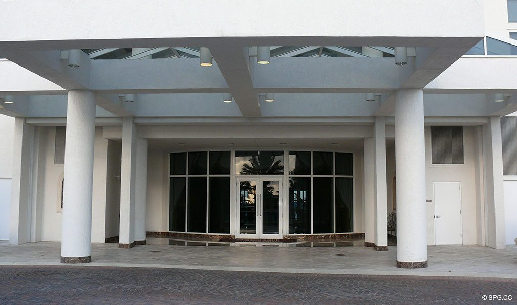 Entrance to L'Ambiance, Luxury Oceanfront Condominiums Located at 4240 Galt Ocean Dr, Ft Lauderdale, FL 33308