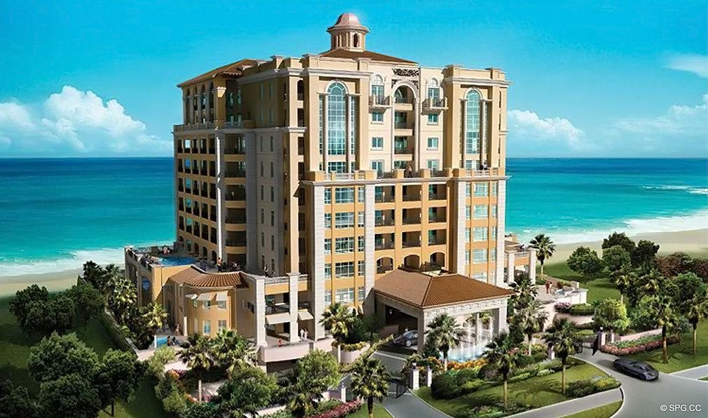 View of Luxuria, Luxury Oceanfront Condominiums Located at 2500 S Ocean Blvd, Boca Raton, FL 33432