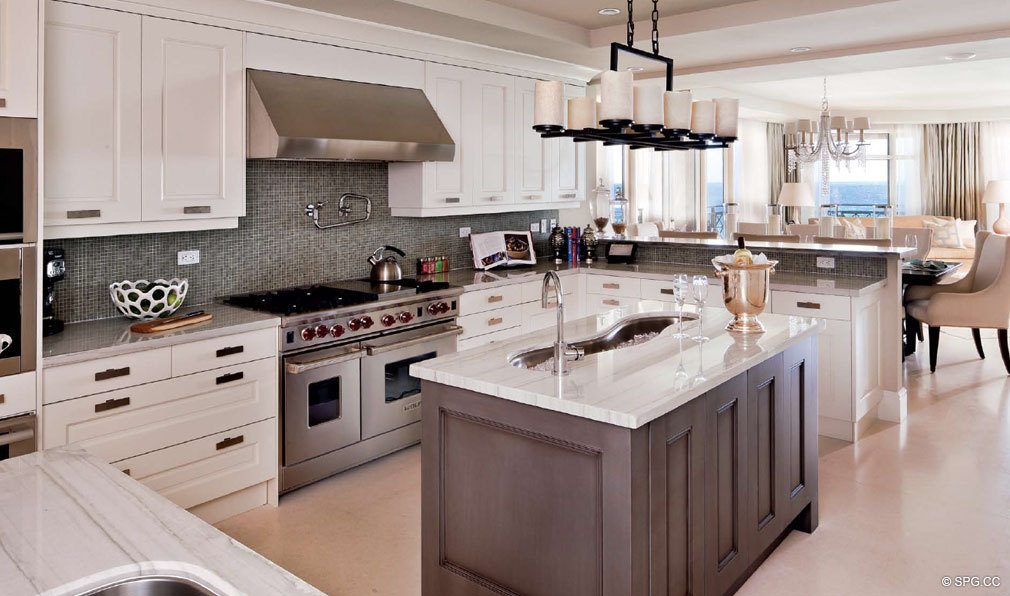 Luxuria Kitchen, Luxury Oceanfront Condominiums Located at 2500 S Ocean Blvd, Boca Raton, FL 33432