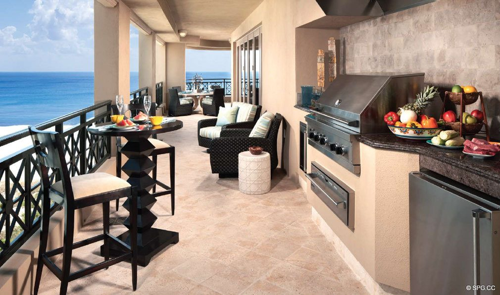 Summer Kitchen and Terrace at Luxuria, Luxury Oceanfront Condominiums Located at 2500 S Ocean Blvd, Boca Raton, FL 33432