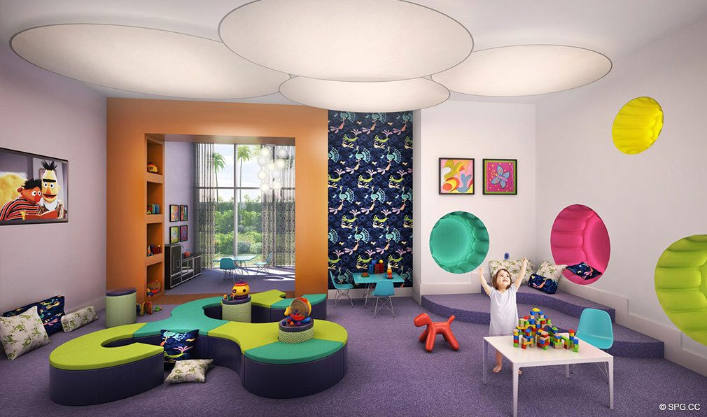 Children's Room at Marina Palms Yacht Club, Luxury Waterfront Condominiums Located at 17201 Biscayne Blvd, North Miami Beach, FL 33160