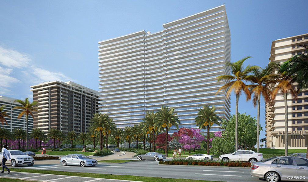 View of Oceana Bal Harbour, Luxury Oceanfront Condominiums at 10201 Collins Ave, Bal Harbour, FL 33154