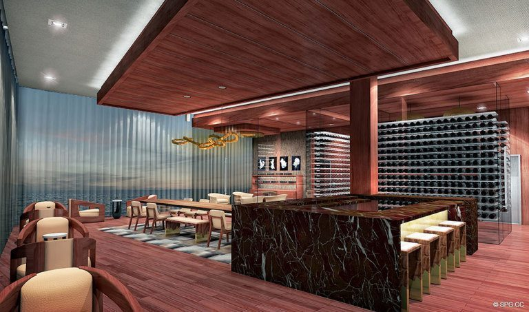 Prive Cigar and Wine Room, Luxury Waterfront Condominiums Located at 5000 Island Estates Blvd, Aventura, FL 33160