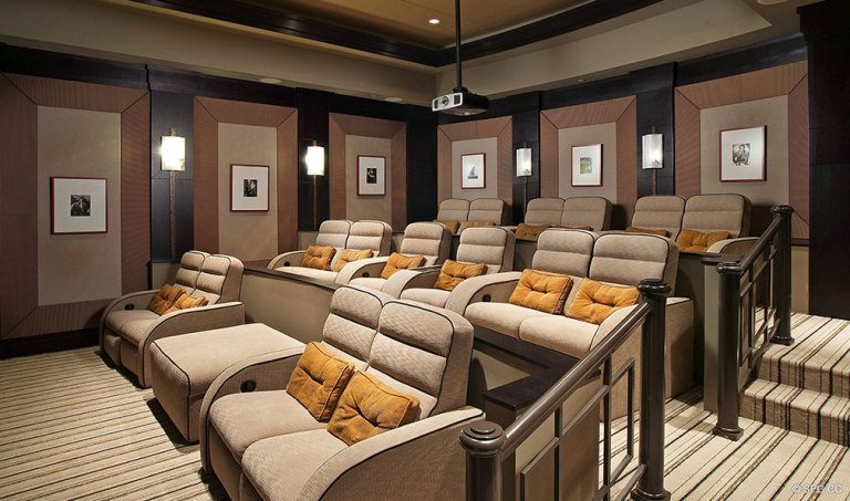 Ritz-Carlton Residences Screening Room, Luxury Oceanfront Condominiums Located at 2700 N Ocean Dr, Palm Beach, FL 33404