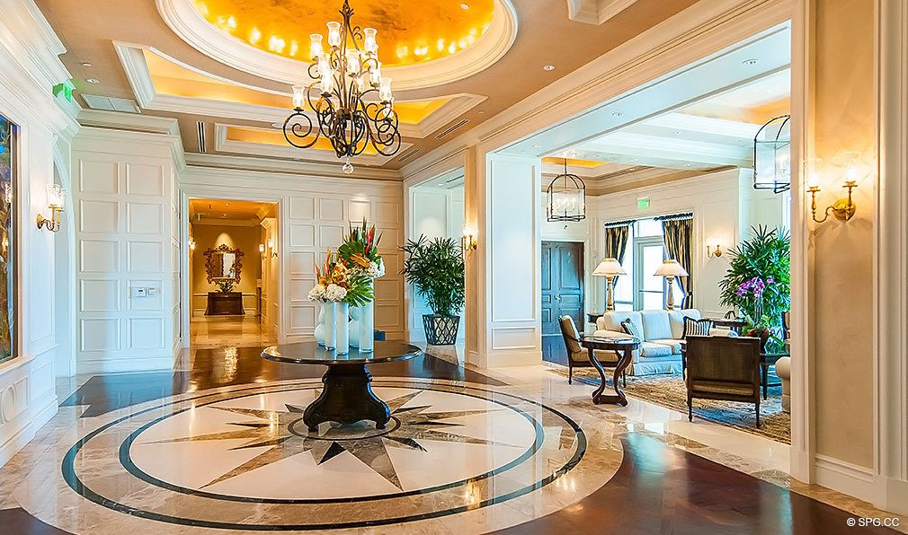 Turnberry Ocean Colony Lobby, Luxury Condominiums Located at 16047-16051 Collins Ave, Sunny Isles Beach, FL 33160