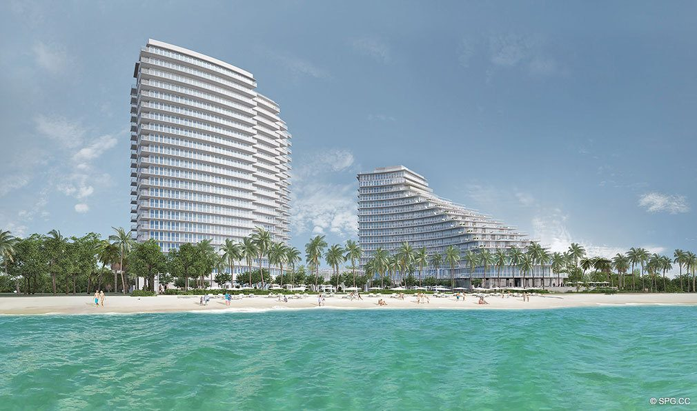 New Construction Rendering for Auberge Beach Residences, Luxury Oceanfront Condos in Ft Lauderdale