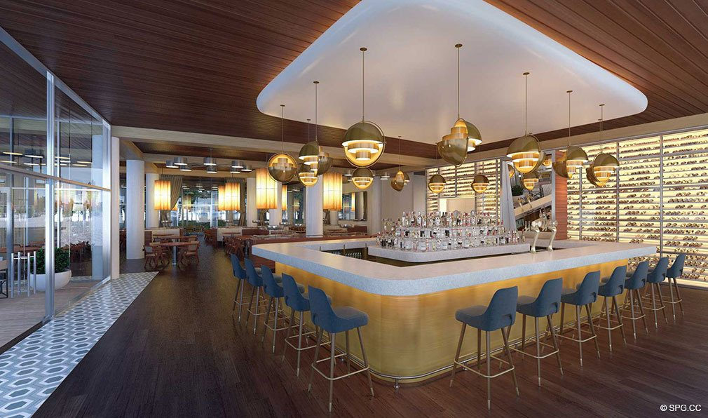 Restaurant Interior Design for Auberge Beach Residences, Luxury Oceanfront Condos in Ft Lauderdale
