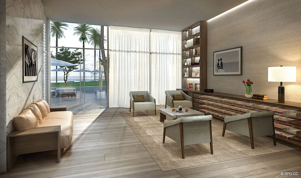 Cigar Lounge at Auberge Beach Residences, Luxury Oceanfront Condos in Ft Lauderdale