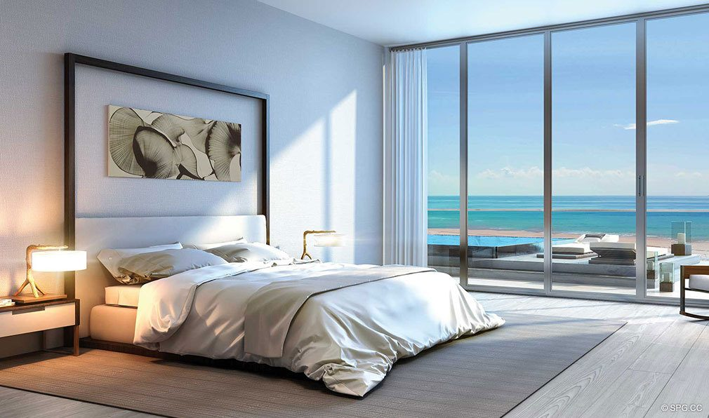 Bedroom Concept Rendering for Auberge Beach Residences, Luxury Oceanfront Condos in Ft Lauderdale